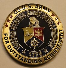 US Army Intelligence Intel G2 Army Acheivement Army Challenge Coin