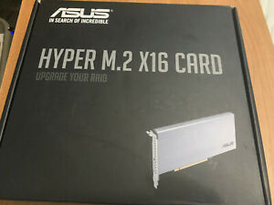 ASUS Hyper M.2 X16 PCIe 3.0 X4 Expansion Card Supports 4 NVMe M.2 SSD