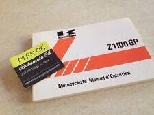Manuel Propriétaire Kawasaki Z1100gp Z1100 GP B2 B3 GPZ Owner's Manual Français