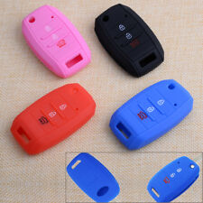 3Buttons Silicone Car Flip Remote Key Cover Case Fob Shell Holder Fit for KIA K3