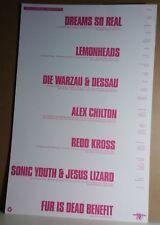 Sonic Youth The Lemonheads Alex Chilton Die Warzau 1990 CONCERT POSTER no-cd/lp