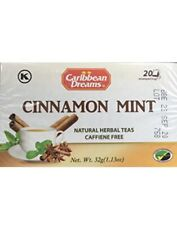 100% Jamaican Cinnamon Mint Tea 20 Bags Pack