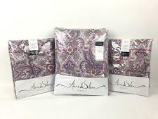 Anne Solene Paisley 300 Tc Cotton 3 Pc Duvet Cover Set Standard/Queen Pink $635