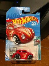 2018 Hot Wheels Tooned Volkswagen Beetle #107 Red