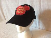DISNEY MICKEY MOUSE CLUB HOUSE CREW FRINGE HAT / CAP. BLACK. RED. ADJUSTABLE.