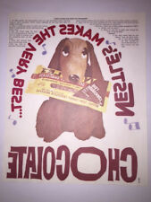 Nestle Choc Jimmy Nelson Farfel Dog Iron On Transfer Original 1970s free ship