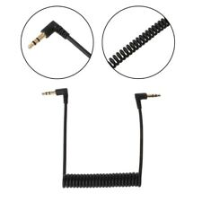 90 Degree 3.5mm Right Angled Jack Male To Male Spring Stereo Audio Car AUX Cable