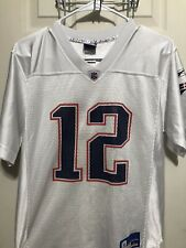 England Patriots Tom Brady NFL Reebok Youth Large Jersey 14-16 White