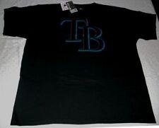 Tampa Rays Primary Logo T-shirt 2XL Black Majestic MLB