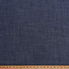 """Woven Tencel Chambray Navy Blue 57"""" Wide Denim Fabric by the Yard (D165.04)"""