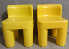 Little Tikes Toddler Child Kids Chunky Yellow Sturdy Hard Plastic Chairs