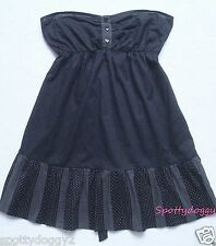 MISO - BNWT BLUE POLKA DOT STRAPLESS SUMMER DRESS £20 - Sz 8