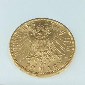 Goldmünze Kaiserreich 20 Mark 1913 J Hamburg Stadtwappen im Blister #5656