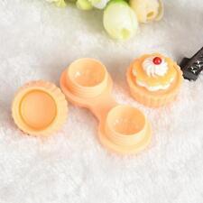 Portable Cake Cream Cartoon Travel Contact Lens Case Box Set Container Holder