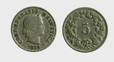 s528_81) Svizzera  Switzerland  Helvetia - SUISSE -  5 Rappen 1903 B