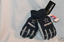 NEW WITH TAGS DALLAS COWBOYS SKI GLOVES THERMAL INSULATED 3M Large BLUE