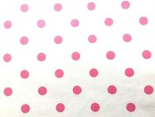 "Pink Polka Dot on White by Peter Pan Fabrics 58"" wide S3a"
