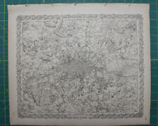 The Environs of London Vintage Original Antique 1870 Colton World Atlas City Map