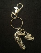 T-Rex DINOSAUR SKULL pendant Key Ring Key Chain T REX silver Jurassic Park World