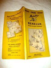 GUIDE MICHELIN JAUNE BENELUX 1958. bon état