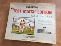 Vintage subutteo Test Match Cricket