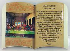 """(Oracion) DE LA SANTA CENA CON SOPORTE PARA MESA O COLGAR EN PARED 6""""X 4"""""""