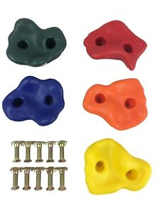 Climbing Stones Handgrips Plastic Multi Colour Climbing Wall Footholds Grips