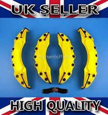 UNIVERSAL BRAKE CALIPER COVERS SET KIT FRONT & REAR YELLOW ABS 4PCS - FR STICKER