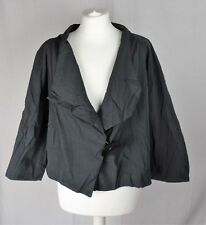 Womens Vintage OSKA Grey Lagenlook Evening Wrap Jacket Size 3 Regular (UK  14-16 7b77645eb