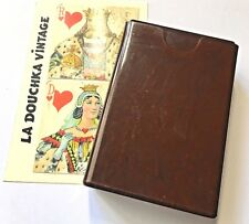 FRENCH 1920s STANDARD PLAYING CARDS DECK~ IN ORIGINAL MARBLED BAKELITE BOX ~RARE
