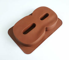 Large Silicone Number 8 EIGHT Age Cake Tin Mould Birthday Anniversary Baking Pan