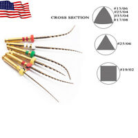 6Pc EASYINSMILE Dental Endo X3 Gold Files Root Canal Endodontic NITI Rotary File
