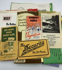 1950's Lot of Agricultural Brochures Aberdeen Angus Cattle 4-H Tractor Program