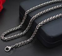 Silberkette Königskette 60cm Edelstahl Panzerkette Damen Herren Halskette 6MM