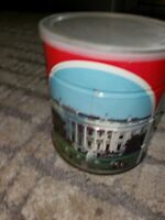 Vintage Hills Brothers Coffee Can w/ Washington DC. Photos - White House Capital