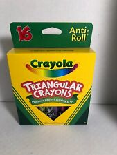Crayola Anti-Roll Non-Toxic Triangular Crayon, 7/16 X 4 in, Assorted Color, P.