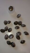 19 x Silver Effect Anchor Nautical Buttons 14mm
