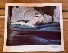 Vintage print North American Rockwell Automatic Navigation Polaris Submarines
