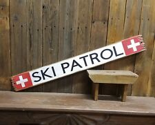 Ski Patrol Rustic Wood Sign, Cabin decor, Lodge decor, Snow skiing, Mountains