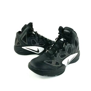 Nike Womens Zoom Hyperfuse Black & White 454153-001 Basketball Shoes Size 7.5