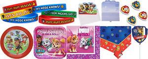 Paw Patrol Kids Birthday Party Tableware Decorations Favor Balloon Plate Napkins