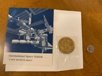 NASA STS-88 ISS Medallion Coin from Flown Metal Unity Node December 1998 SFA NEW