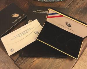 2015 US MARSHALS PROOF 3 COIN SET US MINT OGP BOX, SLEEVE & COA *NO COINS*