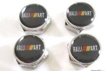 4 X RalliArt Mitsubishi License Plate Frame Emblem Caps Logo Set STICKERS ONLY