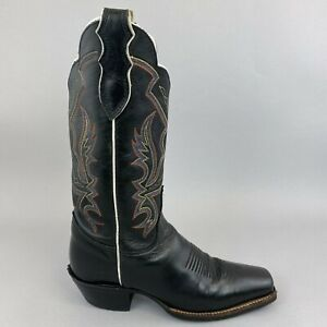 Justin Made USA Leather Western Cowboy Boho Hippie Pull On Boots Size US6.5B UK4
