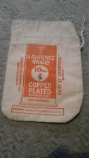 Vintage Lead Shot Bag Lawrence Copper Plated Magnum 10 Lbs. Empty