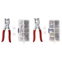 Set de 50pcs DIY Kit Bouton Pression, Rivet, Clips, Attaches avec Pince Outil à