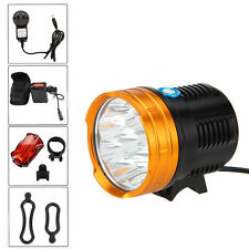 22000Lumen 9x CREE XM-L R8 LED MTB Cycling Bicycle Bike Head Light Lamp +16000mA