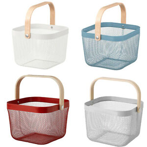 Ikea RISATORP Home Grocery Fruits Vegetables Carrying Storage Basket 25x26x18cm