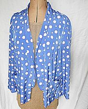 RIVER ISLAND BLUE WITH WHITE POLKA DOTS WITHIN PINK RINGS JACKET VERSATILE 16
